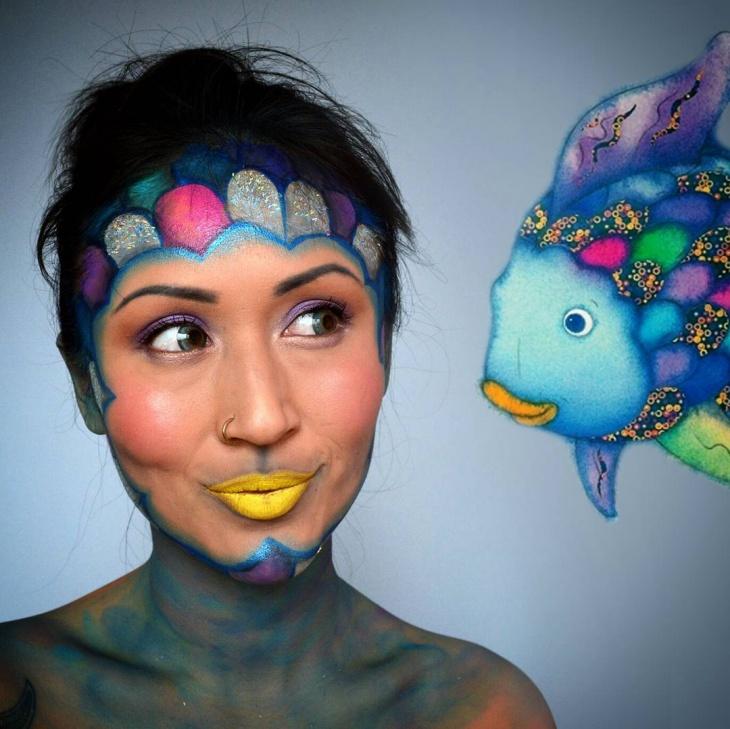 Tropical Fish Makeup Design