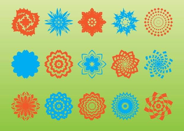Geometric Ornament Shape Vector