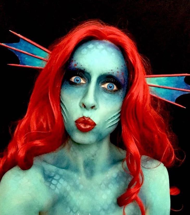 creepy fish makeup