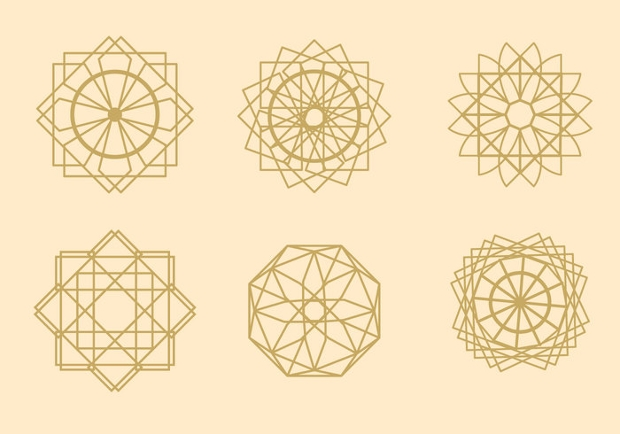 geometric arabesque vector