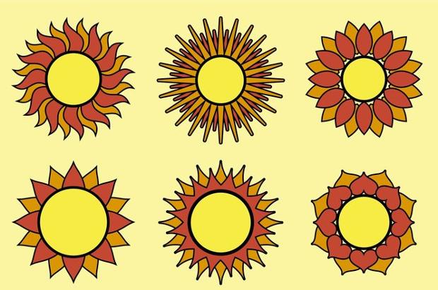 geometric sun vector
