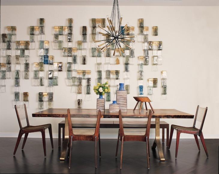 Minimalist Geometric Dining Room
