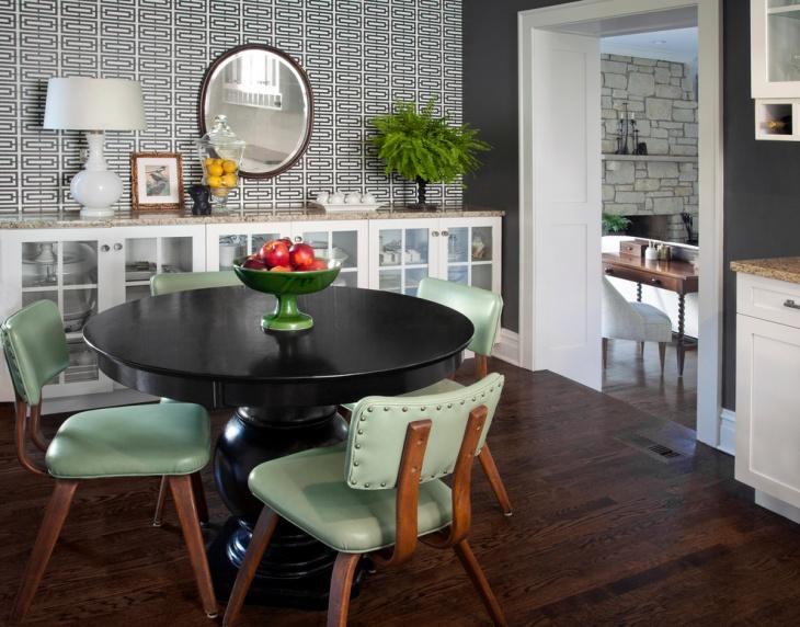 Modern Geometric Dining Room