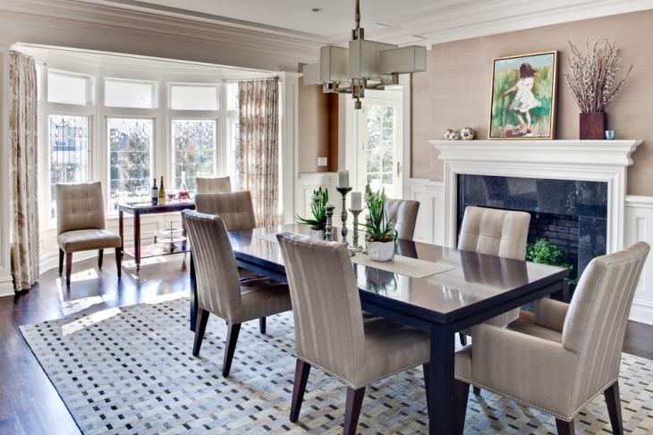 17+ Geometric Dining Room Designs, Ideas