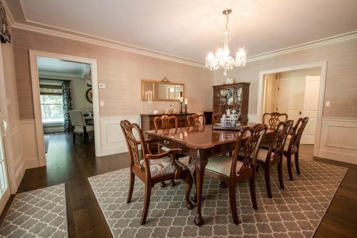 Rustic Geometric Dining Room