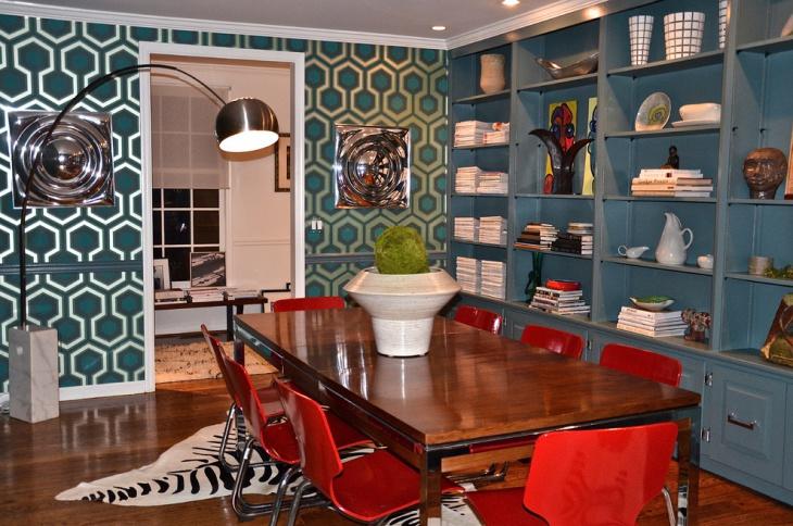 Midcentury Geometric Dining Room