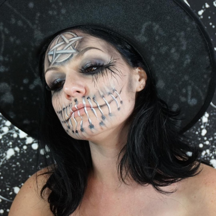 halloween witch makeup design