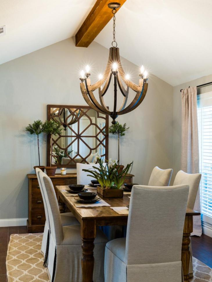 Dining Room Geometric Mirror Idea