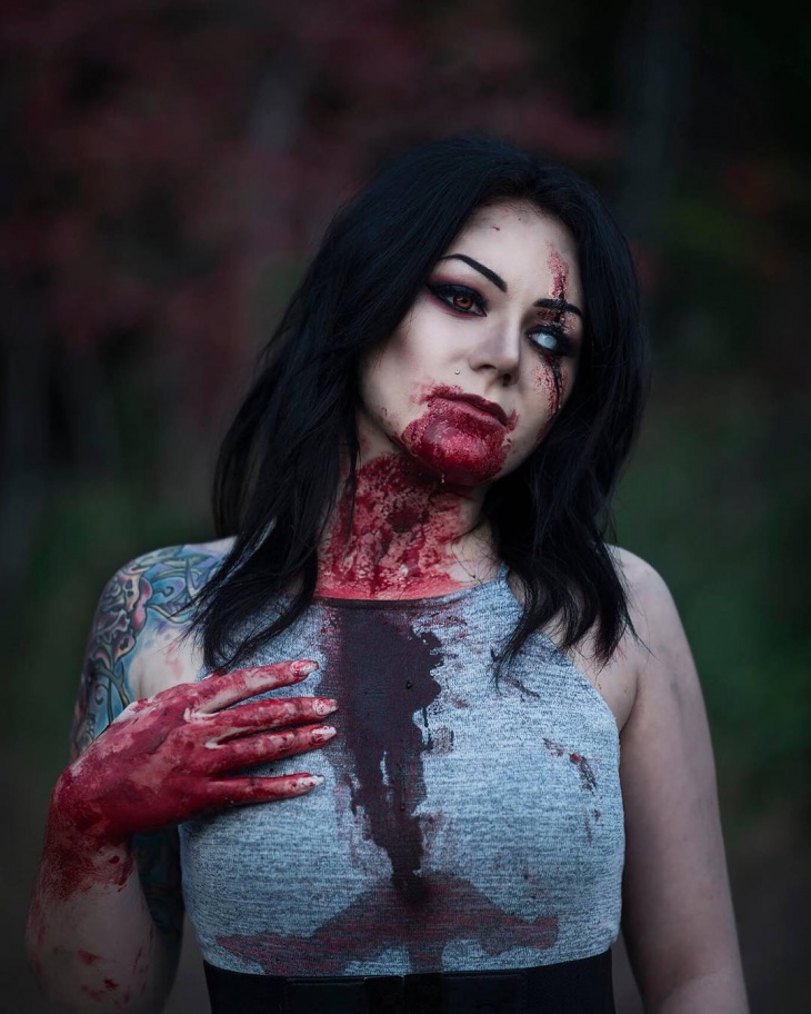 halloween zombie makeup design