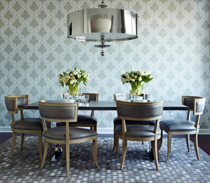 Traditional Geometric Dining Room