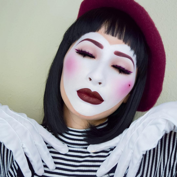 sad mime makeup design