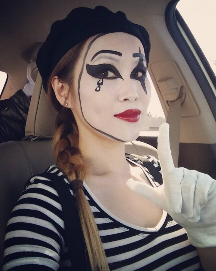 evil mime makeup design