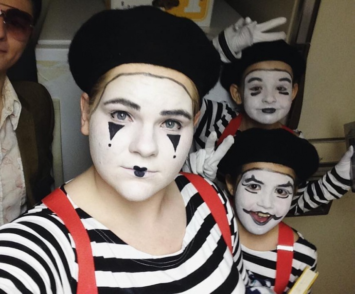 mime makeup for kids
