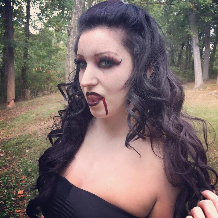 halloween vampire makeup design
