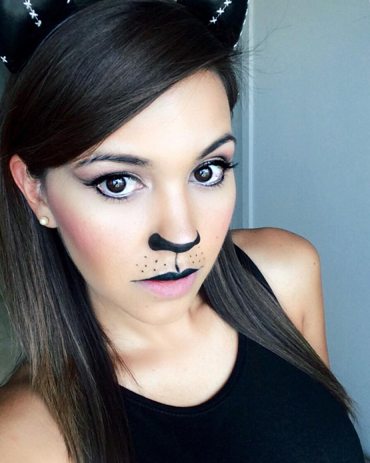 kitty cat makeup design