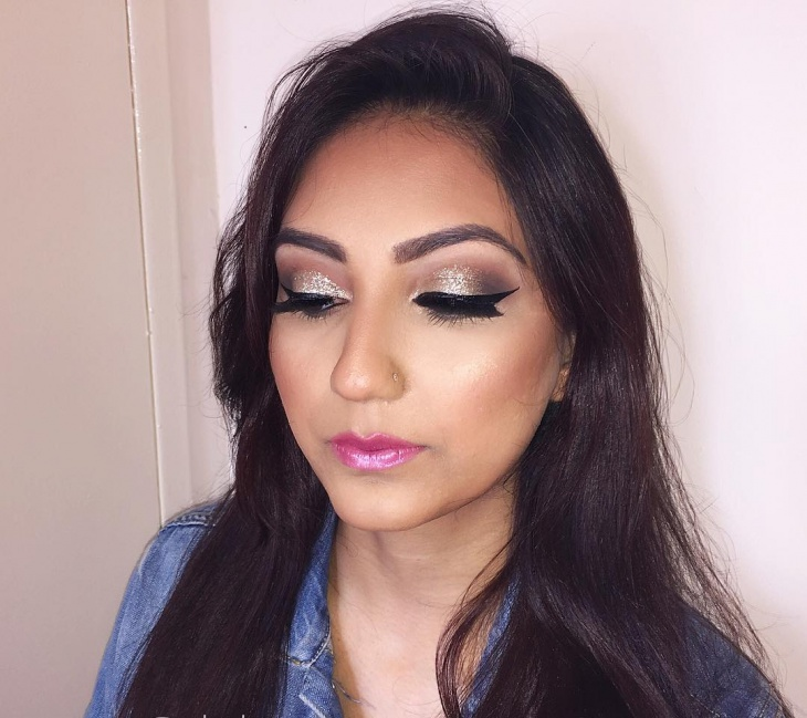 glitter prom makeup design