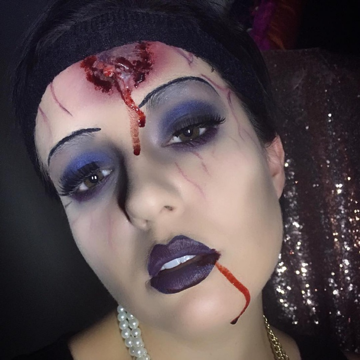 dead flapper makeup design