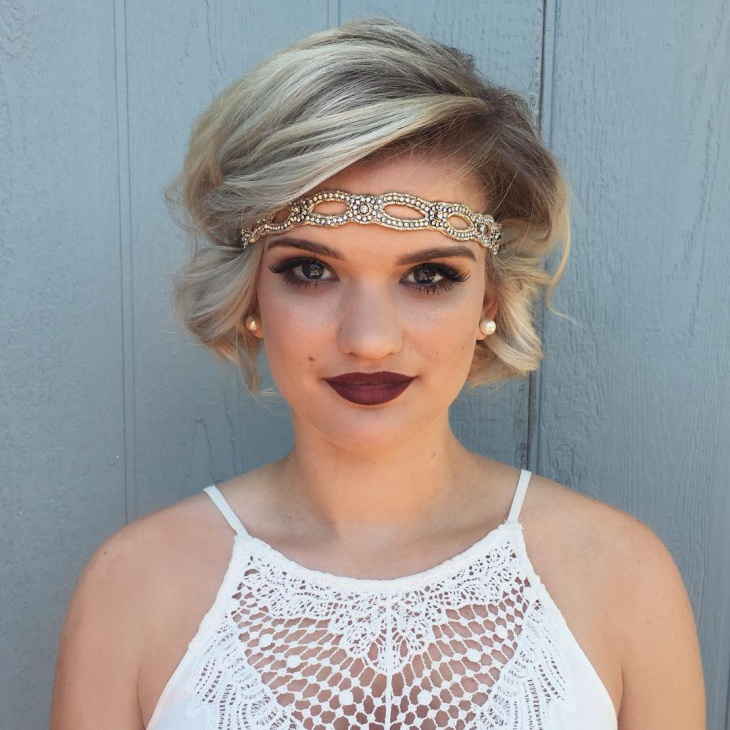 flapper girl makeup idea