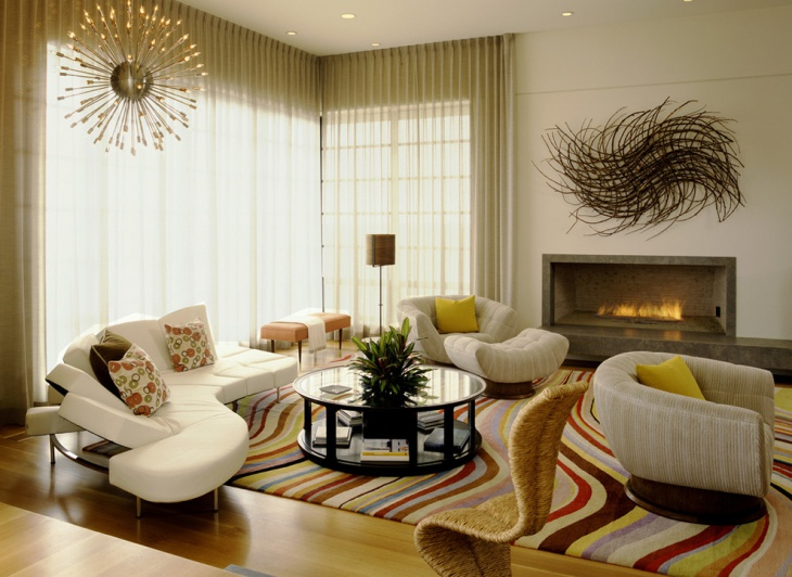 Classic Feminine Living Room Idea
