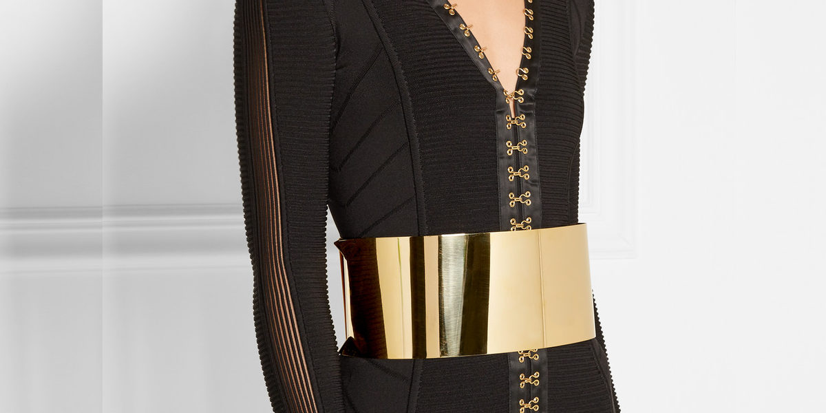 balmain gold tone waist belt