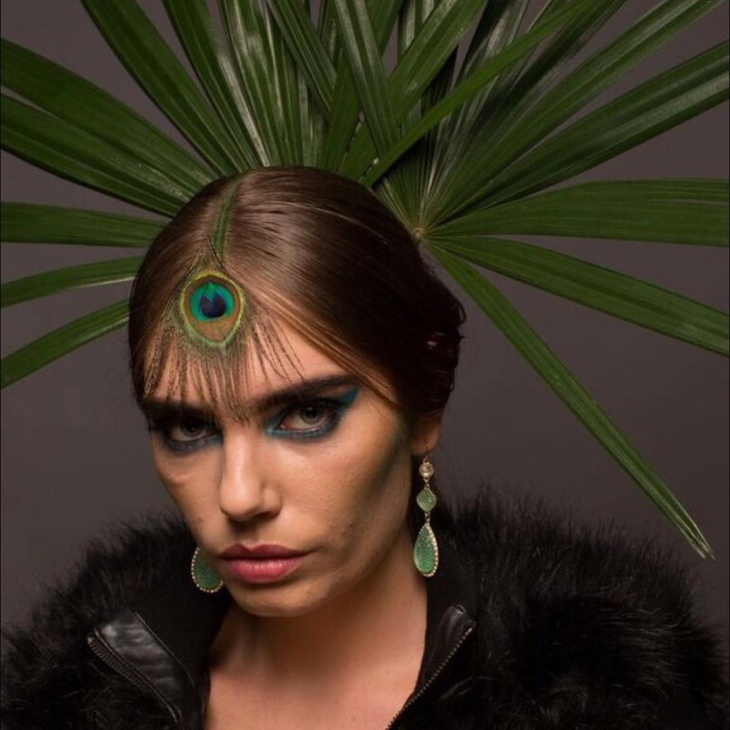 peacock feather makeup design