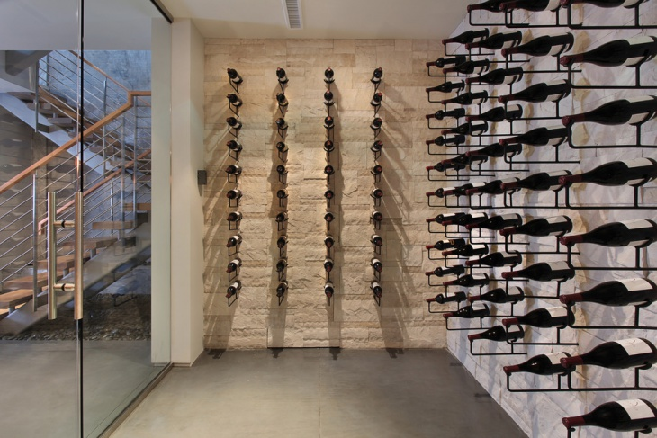 attractive metal wine rack idea