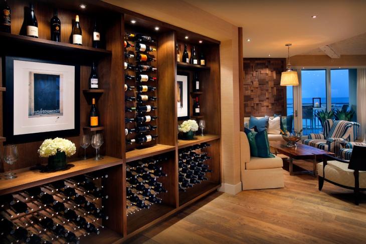 wine rack cellar idea