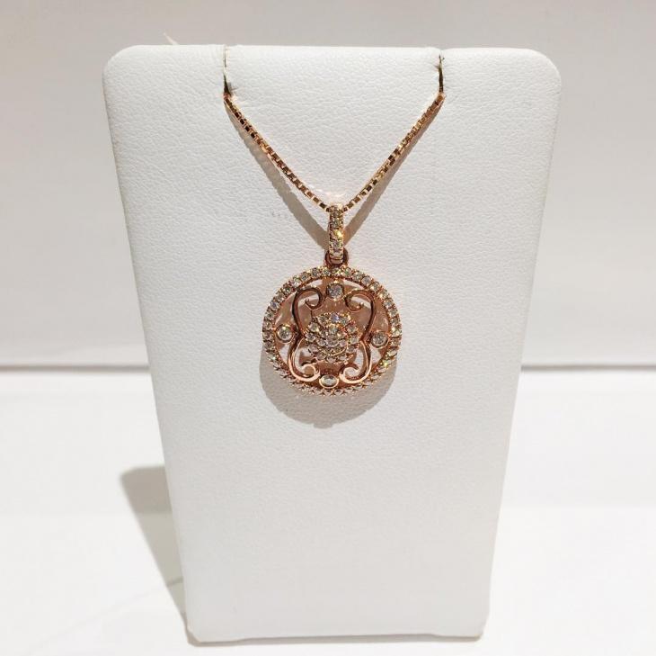 rose gold pendant design