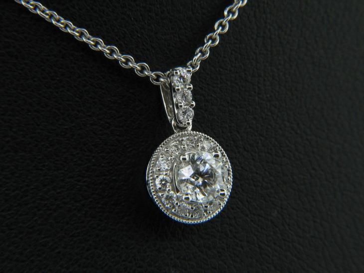 diamond solitaire pendant design