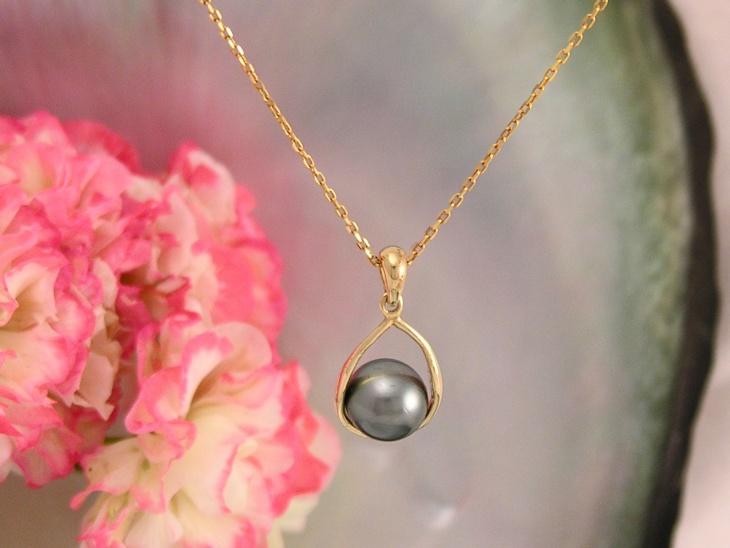 black pearl pendant design