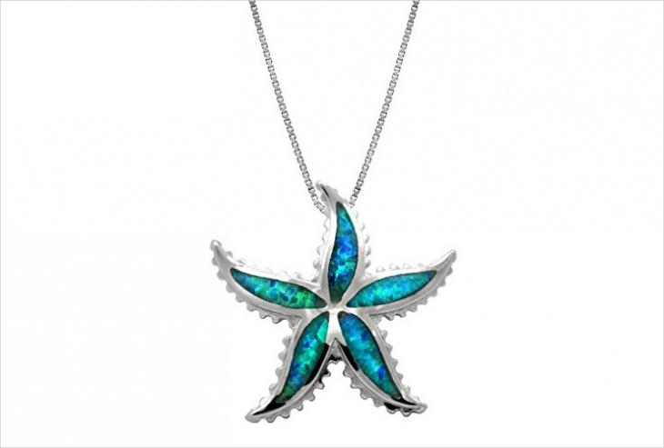 blue opal pendant design