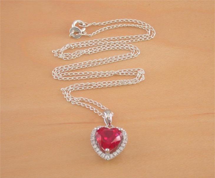 heart shaped ruby pendant