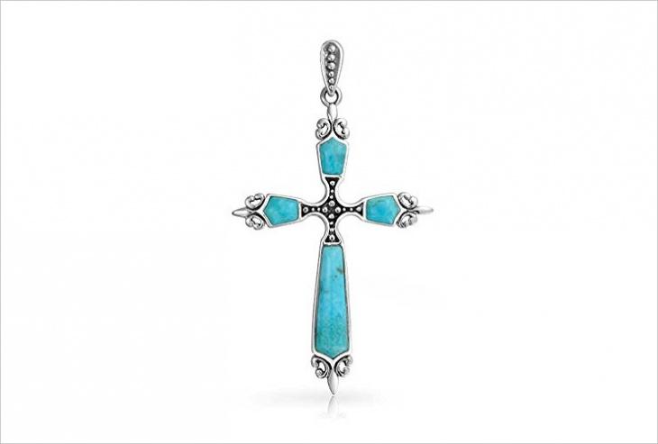 turquoise cross pendant design