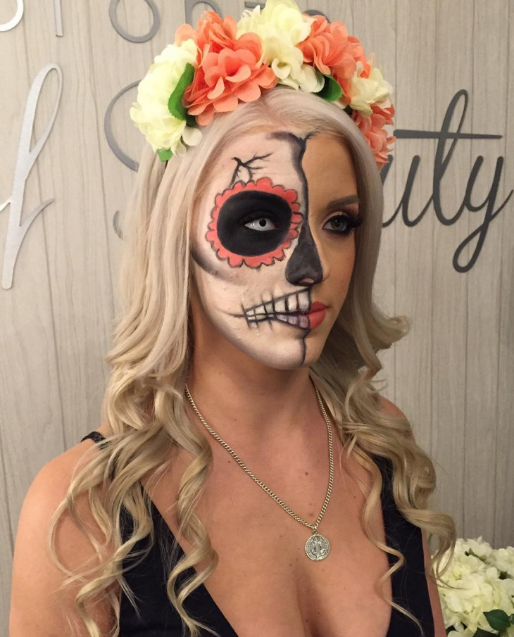 candy skull makeup design