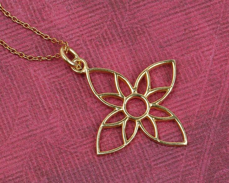 floral cross pendant design