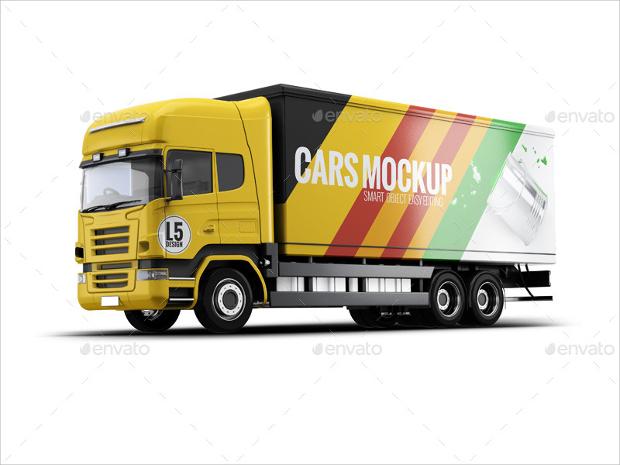 cargo truck mockup design
