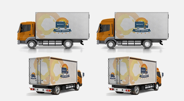 high resolution delivery truck mockup