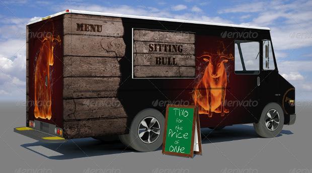 food truck mockup psd