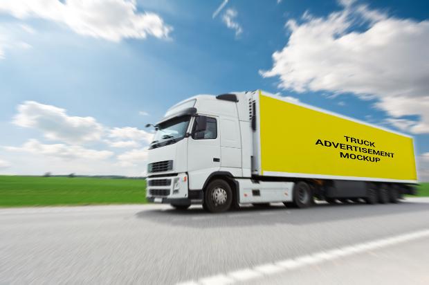 branding truck mockup
