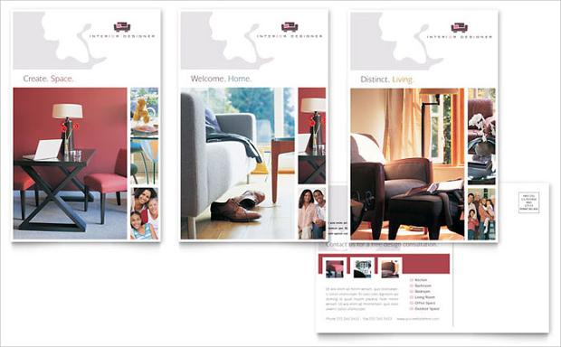 Interior Design Marketing Postcard