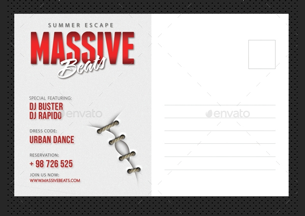 Party Event Post Card