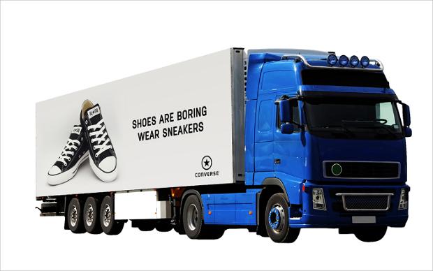 truck psd advertising mockup