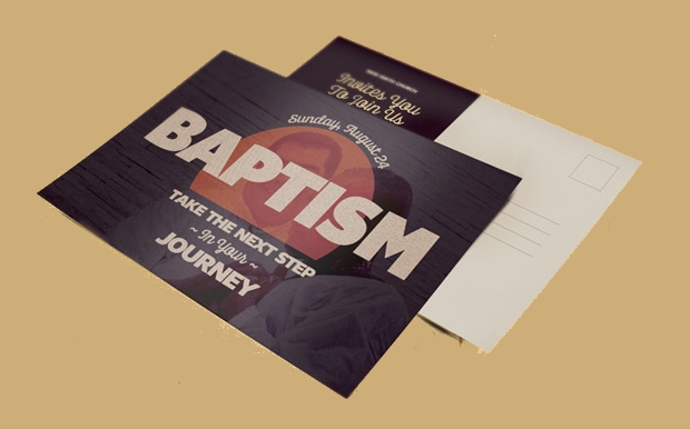 Church Invitation Postcard