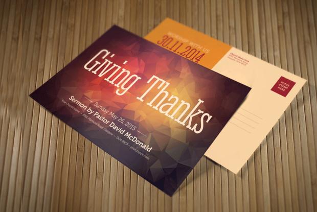 Thanksgiving Church Postcard