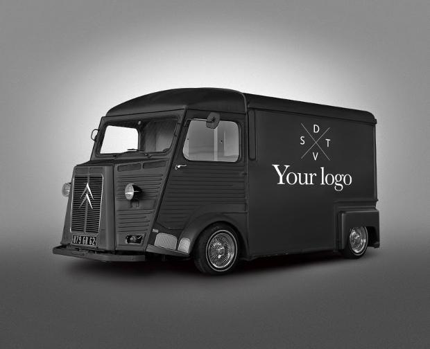 van food truck mockup