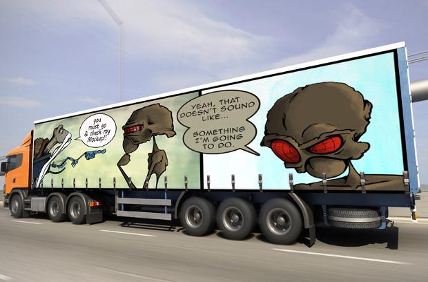 large truck mockup design