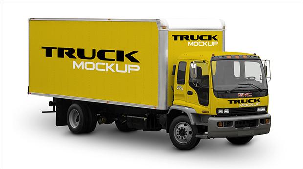 editable truck mockup