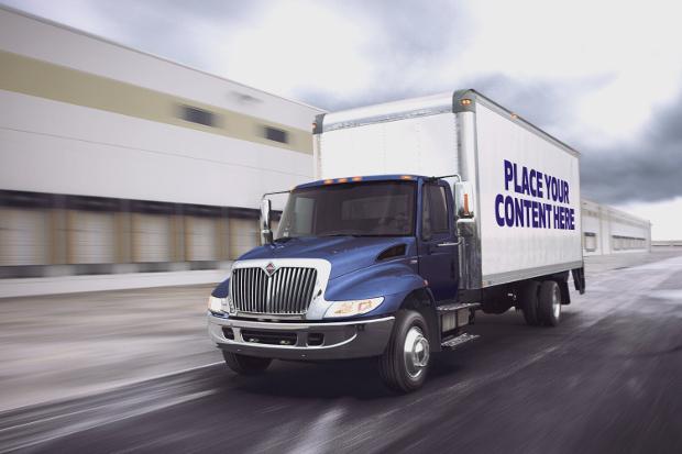 high quality truck trailer mockup