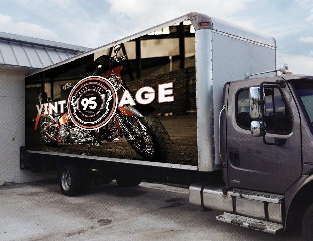 realistic box truck mockup design
