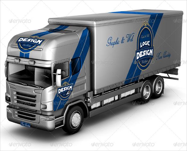 simple truck mockup